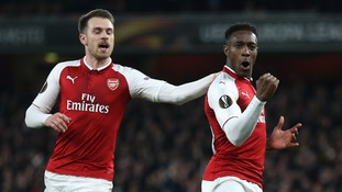 Danny Welbeck nets a brace as Arsenal beat AC Milan 5-1 on aggregate to book quarter final spot
