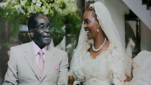 The Mugabes on their wedding day.