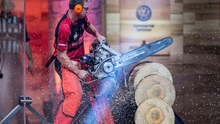 pic of timbersports stars in action