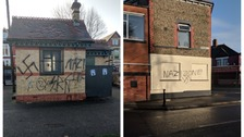 Racist graffiti in Cardiff condemned