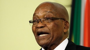 Former South African president Jacob Zuma is facing corruption charges.