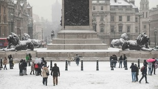 Up to 5cm (2in) of snow could fall in some parts of the country