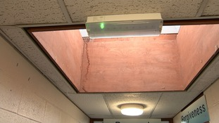 There is damp in many of the school buildings.