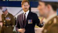 Prince Harry makes 'political' comment on defence budget