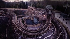 Alton Towers halt opening of 'Wicker Man' due to weather
