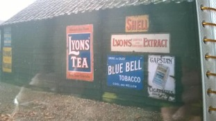 Vintage signs stolen from 1920s village barn