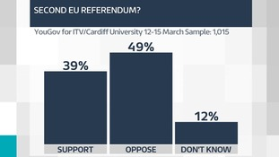Poll shows growing opposition to second EU referendum