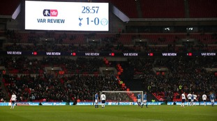 VAR was used at Tottenham Hotspur's FA Cup tie against Rochdale.