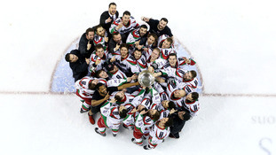 Cardiff Devils crowned Elite League champions after win over Giants in Belfast