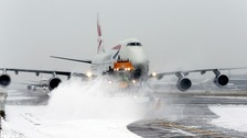 Flights cancelled ahead of blast of snow and ice