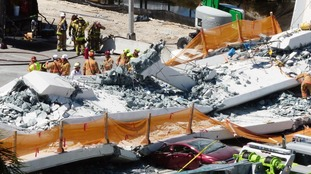 The bridge collapsed on Thursday, killing at least six people.
