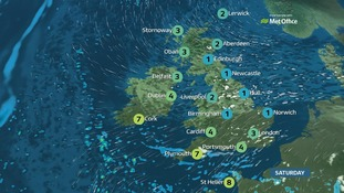 Weather: a very cold day with strong winds