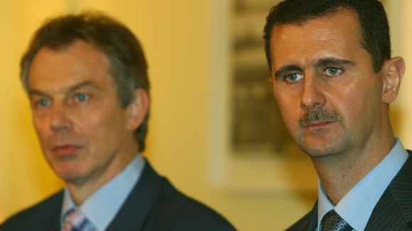 Tony Blair with President Bashar al-Assad