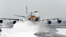 Heathrow flights cancelled as further snow and ice arrives in the capital