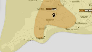 The Amber warning is in place for tomorrow