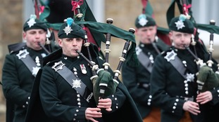 Members of the Irish Guards during the traditional parade.