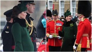 Kate's bump was clearly visible under her vibrant green coat.
