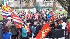 Hundreds turn out for anti-racism march in Cardiff