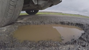 Pothole in North Yorkshire