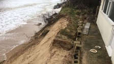 Concerns over clifftop houses at Hemsby