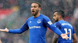 Everton striker Cenk Tosun's double has pushed Stoke into deeper relegation trouble