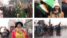 Snowfall fails to dampen St Patrick's Day celebrations