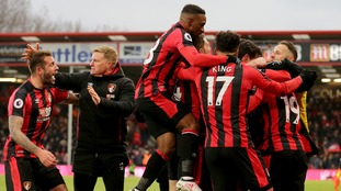 Bournemouth's Junior Stanislas' late free-kick all but condemned West Brom to the Championship