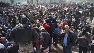Syria's eastern Ghouta exodus a 'tableau of desperation'