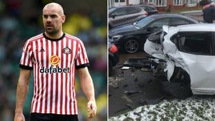 Sunderland footballer allegedly involved in multi-car crash