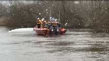 Major rescue operation in River Stour as eleven people capsized