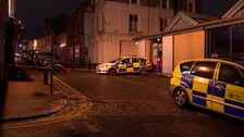 Kent Police cars at the scene in Gravesend.