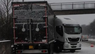 Lorry jack-knifed on the M42