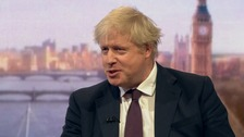 Boris Johnson said that the UK has support worldwide, while Russia does not.
