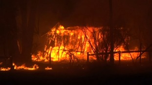 Lightning sends rural Australian homes up in flames
