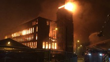 50 firefighters tackle Tameside Mill Fire