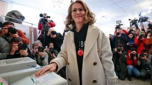 Ksenia Sobchak urged critics of Vladimir Putin not to boycott the election.