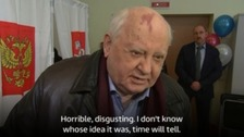 Gorbachev attacks 'disgusting' ex-spy poisoning as he votes