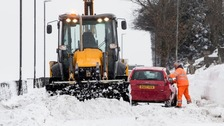 Warnings remain as 'mini Beast from the East' grips UK