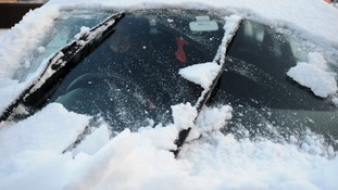All windows and the roof should be completely clear of ice before driving