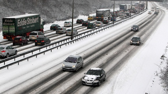 Stopping distances are greatly increased in snowy and icy conditions
