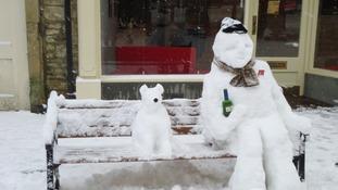 Snow sculptures in Tetbury
