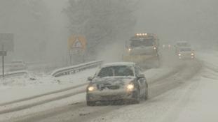 Snow caused disruption throughout Sunday
