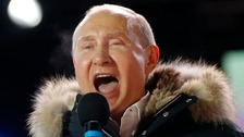 Putin dismisses UK spy attack allegations as he wins Russian election