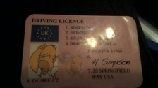 D'oh! Cops catch driver using Homer Simpson duff ID