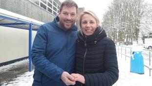 Newlyweds John and Sarah