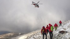 Mountain Rescue team members at the scene