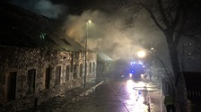 WATCH: Police investigate blaze at former Selkirk mill