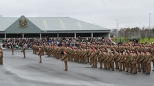 Soldiers parade at Harrogate Army Foundation College
