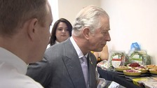 Prince Charles has highlighted plastic's use in the food industry.