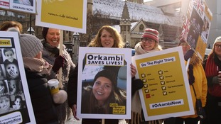 Orkambi campaigners
